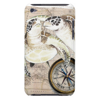 Sea Turtles Compass Map iPod Touch Case