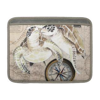 Sea Turtles Compass Map MacBook Sleeve