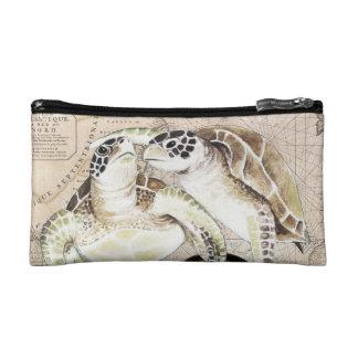 Sea Turtles Compass Map Makeup Bag