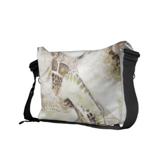 Sea Turtles Compass Map Messenger Bag