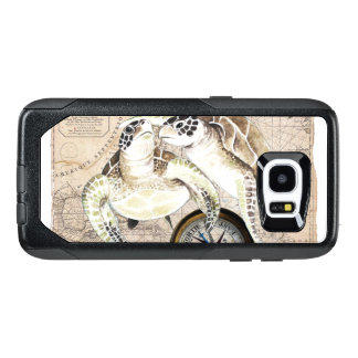 Sea Turtles Compass Map OtterBox Samsung Galaxy S7 Edge Case