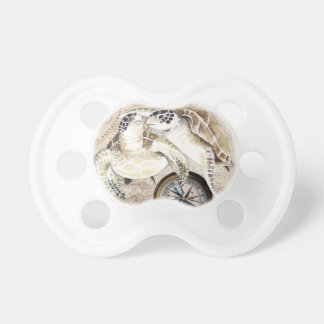 Sea Turtles Compass Map Pacifier