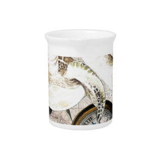 Sea Turtles Compass Map Pitcher