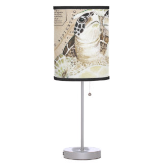 Sea Turtles Compass Map Table Lamp