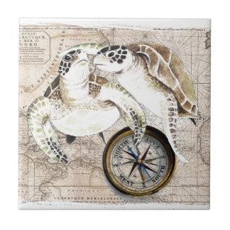 Sea Turtles Compass Map Tile