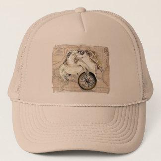 Sea Turtles Compass Map Trucker Hat