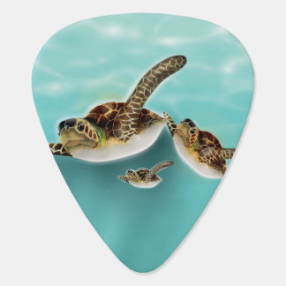 Sea Turtles Illustration Guitar Pick