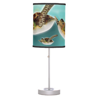 Sea Turtles Illustration Table Lamp