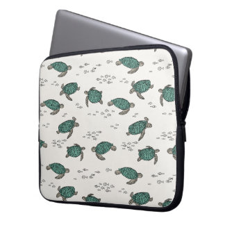 Sea Turtles Ocean Nautical Summer / Andrea Lauren Laptop Sleeve