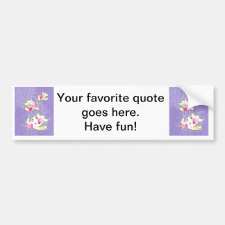 Sea Turtles on Plain violet background. Bumper Sticker