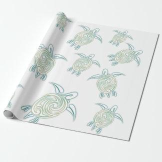 Sea Turtles Pattern White Green