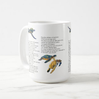 Sea Turtles Poem Prayer Peace Mug