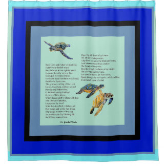 Sea Turtles Poem Prayer Peace Shower Curtain