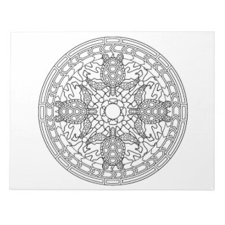 Sea Turtles Seaturle Mandala Pattern Color Book Notepad