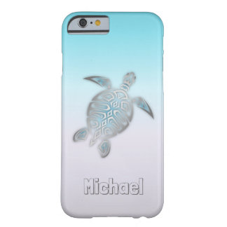 Sea Turtles Silver Monogram Animal Barely There iPhone 6 Case