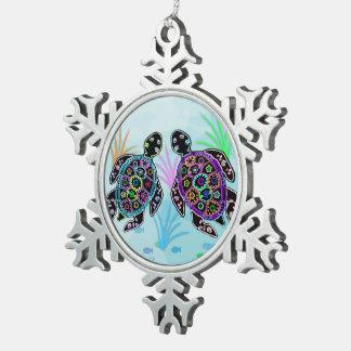 Sea Turtles Snowflake Ornament