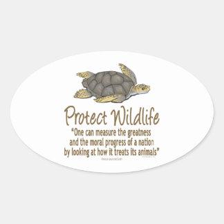 Sea Turtles Oval Sticker