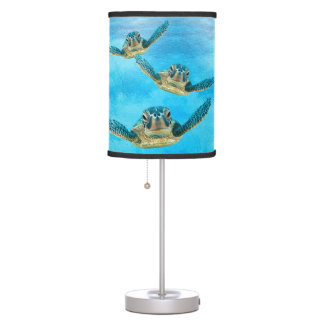 Sea Turtles Swimming In Ocean Table Lamp