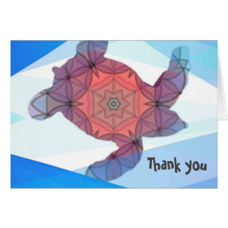 Sea Turtles Thank you note Card