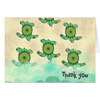Sea Turtles, Thank you note Card