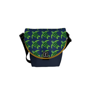 Sea Turtles with Sunglasses Courier Bag