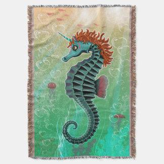 Sea Unicorn Blanky Throw Blanket