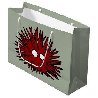 Sea Urchin Uni Spiny Red Hedgehog Ocean Large Gift Bag