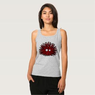 Sea Urchin Uni Spiny Red Hedgehog Ocean Tank Top