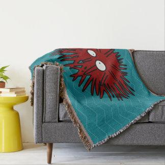 Sea Urchin Uni Spiny Red Hedgehog Ocean Throw Blanket