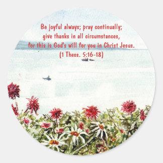'Sea View (Christian)' Sticker