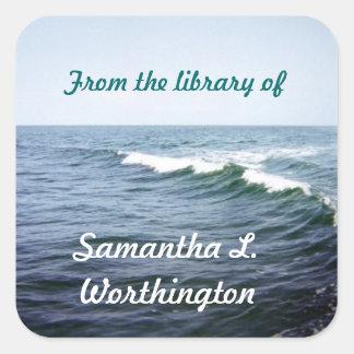 Sea Water Personalized Square Sticker
