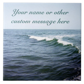 Sea Water Personalized Tile