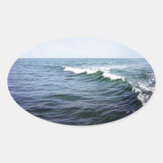 Sea Water Oval Sticker