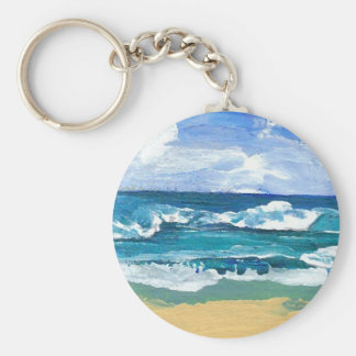 Sea Waves at Play - CricketDiane Ocean Art Keychain