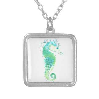 Sea Weed Silver Plated Necklace