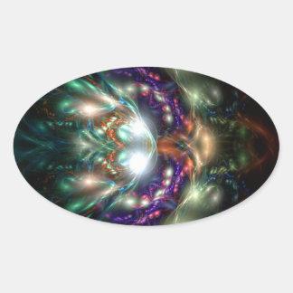Sea Witch Oval Sticker