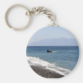 sea with stones keychain