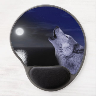 Sea wolf - moon wolf - full moon - wild wolf gel mouse pad