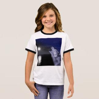 Sea wolf - moon wolf - full moon - wild wolf ringer T-Shirt