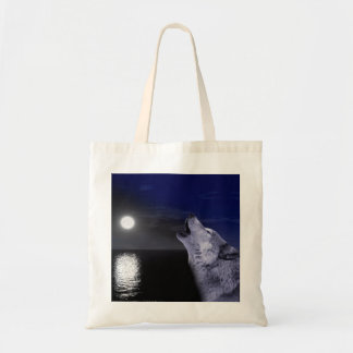 Sea wolf - moon wolf - full moon - wild wolf tote bag