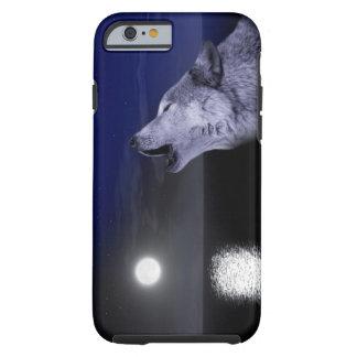 Sea wolf - moon wolf - full moon - wild wolf tough iPhone 6 case