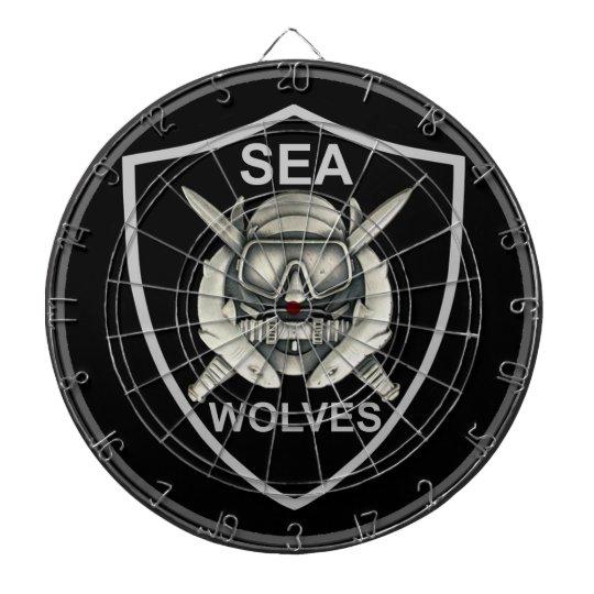 Sea Wolves Custom Dart Board
