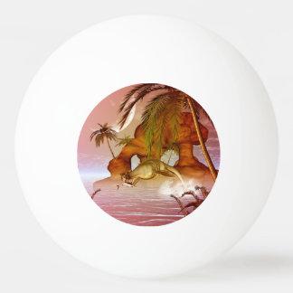 Seadragon with marlin, hunter and hunted Ping-Pong ball