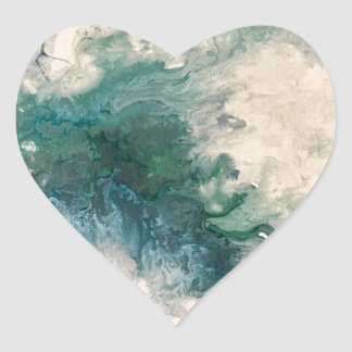 Seafoam 2 heart sticker