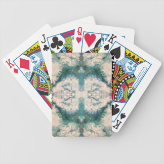 Seafoam 2 pattern bicycle playing cards