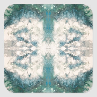 Seafoam 2 pattern square sticker
