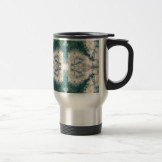 Seafoam 2 pattern travel mug