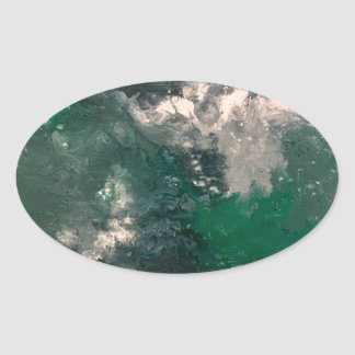 Seafoam 3 oval sticker
