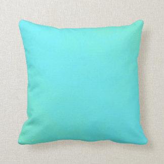 Seafoam and Aqua Blue Gradient Swirl Pillow