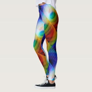 Seafoam Candy Abstract Artwear Leggings